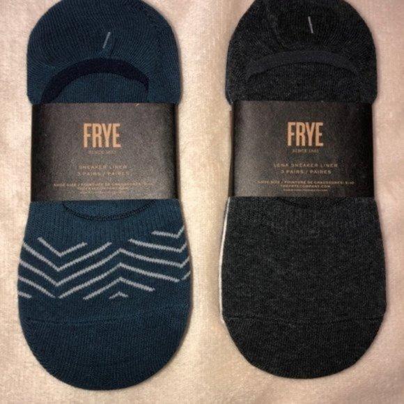 Frye Sneaker Liner Socks Set of 6